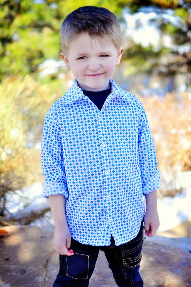 28d6aa03d9ab Sis Boom Ethan Boy s Button-Up shirt PDF Sewing Pattern