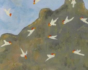 THE WATERHOLE - fine art digital download, landscape painting, digital wall art