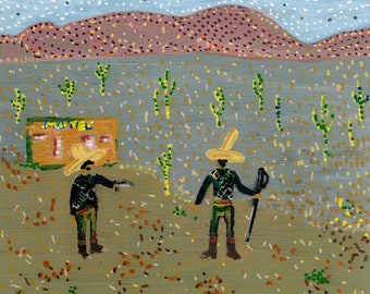 Pancho and Lefty - ORIGINAL acrylic painting
