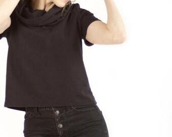 Black Flannel Cowlneck
