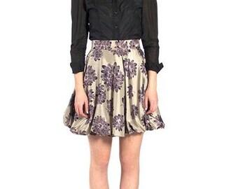 Multicolor Floral Bubble Skirt