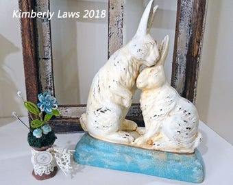UP-CYCLED - old made new treasure - rabbits - decor - spring - NO109