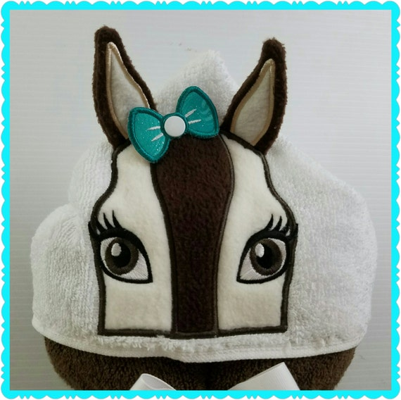 Towel Hoodie Personalized Horse Hooded For Kids