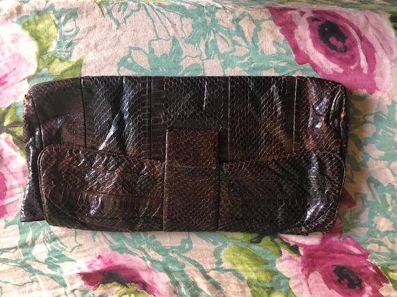 1950's Snake skin clutch