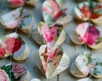 Wedding decor, Christmas garland, Heart garland, Christmas gift for her, Christmas decorations, Eco gift, Gift for Mom, Galentines