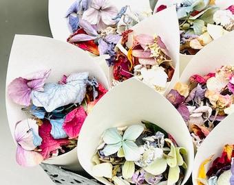 Biodegradable confetti, Wedding confetti, Petal Confetti , Flower confetti, Eco friendly confetti, Petal toss bags, Confetti cones