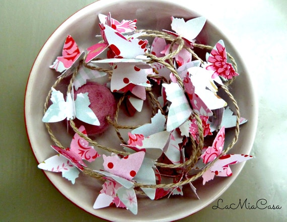 Butterfly Garland Butterfly Mobile Baby Mobile Girl Shabby Etsy
