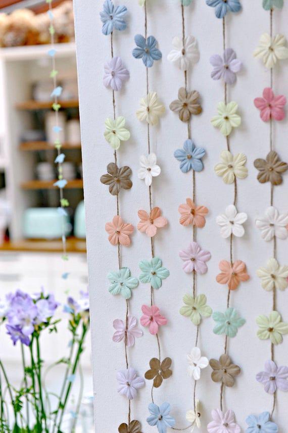 guirlande de fleurs hortensia fleurs blanches mariage etsy. Black Bedroom Furniture Sets. Home Design Ideas