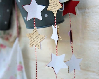 Holiday decor, Christmas clearance, Rustic holiday decor, Primitive Christmas, Christmas garland, Star garland, Christmas mantel