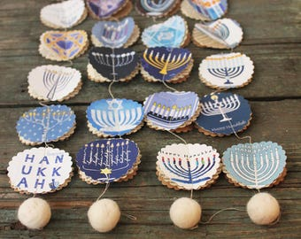Hanukkah,  Hanukkah decorations, Hanukkah garland, Hanukkah decor, Hanukkah wreath, Hanukkah decoration, Happy Hanukkah