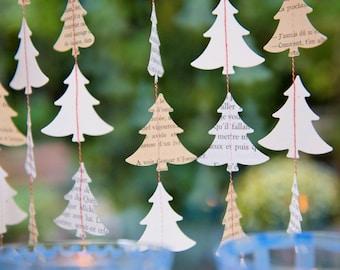 Rustic holiday decor, Holiday decor, Scandinavian Christmas, Nordic Christmas, Christmas Garland, Modern Christmas, Christmas mantel