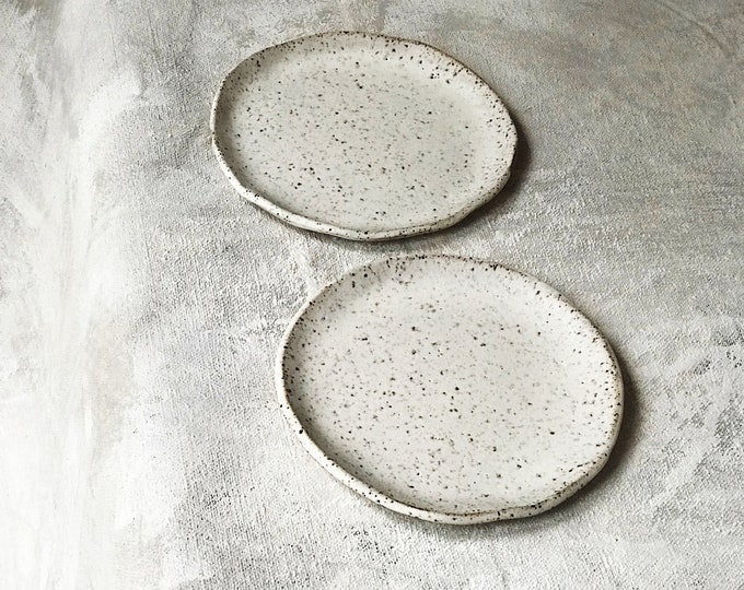 Paul Lowe Ceramics Set of 2 Plates