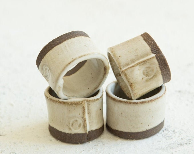 Paul Lowe Ceramics Napkin Rings