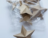 6 cardboard stars
