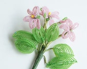 Vintage glass bead flower