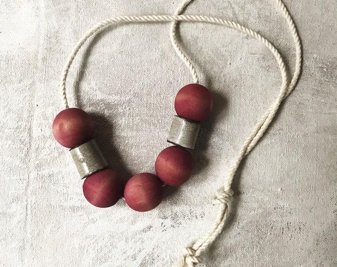 Paul Lowe Ceramics PINK necklace