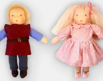 "13-14"" Waldorf Child Doll full kit + free pattern and instruction book (clothes not included)"