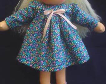 "Pattern Instant Download: Peter in Blueberry Land and Girl's Dress Waldorf Dolls clothes 13-14"" doll"