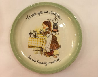 Holly Hobby Decorative plate Life is spice and a lot of nice That's what friendship 10 1/4 American Greeting Cleveland Ohio edition made USA