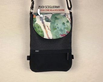 Bag black and white canvas backpack removable shoulder strap backpack cotton fabric messenger pockets