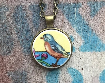 Broken Dishware Necklace, Robin