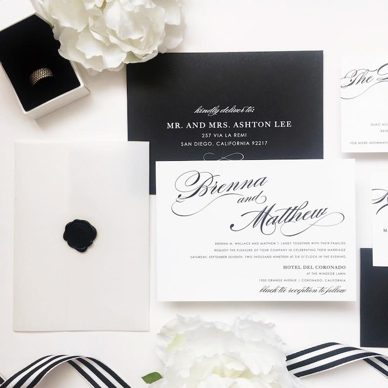 Classic Style Wedding Printed Black and White Wedding Menu Cards Customize Menu Cards Simple Printed Menu Cards