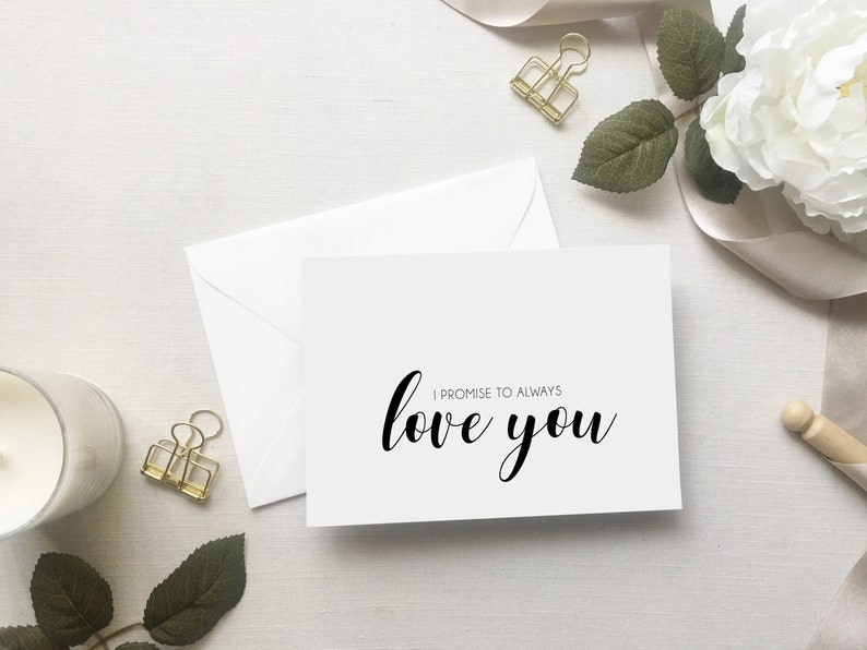 Wedding Card to Bride and Groom I Promise to Always Love You Card for Wedding Day Wedding Day Card Wedding Stationery