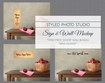 Download Free Kitchen Background, Digital Background, Background Image, Kitchen Mockup, Kitchen Mock Up, Interior Mockup, Farmhouse Backdrop, Sign Mock Up PSD Template
