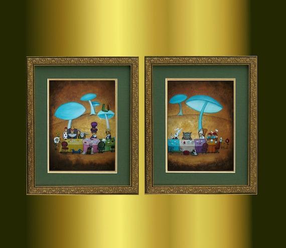 Alice In Wonderland Mad Hatter Tea Party Wall Art Print Framed 12x16