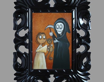 Dark Fantasy Lowbrow Art Print -- Art  Prints and Posters Giclee - Letting Go