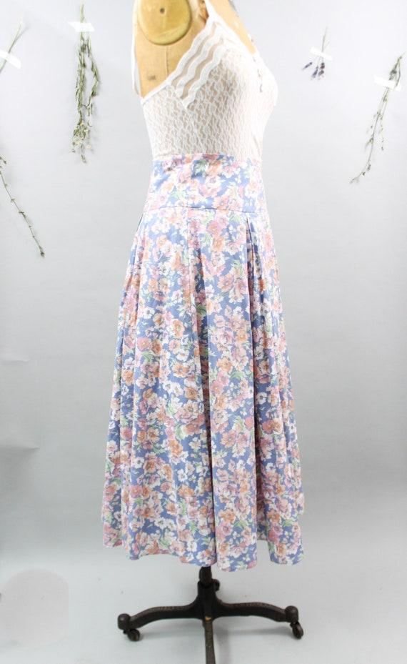 Vintage Laura Ashley Floral Skirt - image 4
