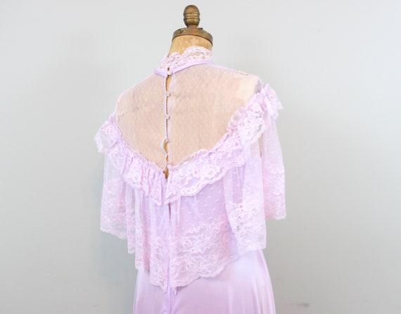 lilac lace maxi dress - image 8