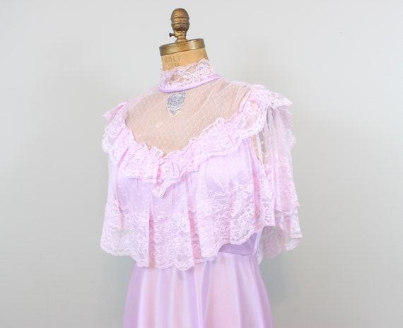 lilac lace maxi dress - image 5