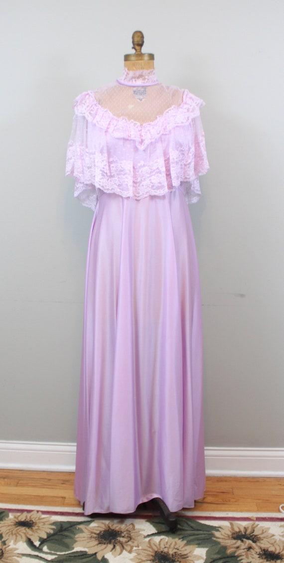 lilac lace maxi dress - image 2