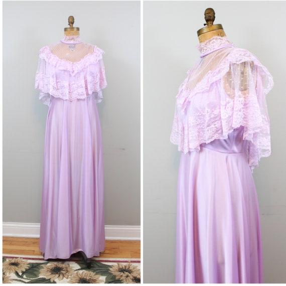 lilac lace maxi dress