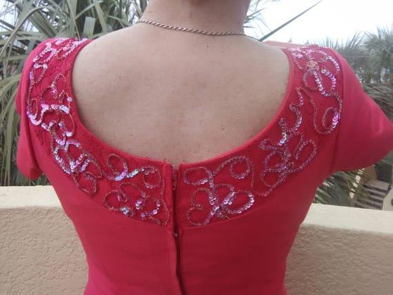 1960s Silk Formal Dress- Volup - image 3