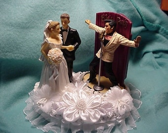 Elvis Wedding cake topper IN Love and all Shook Up   Etsy