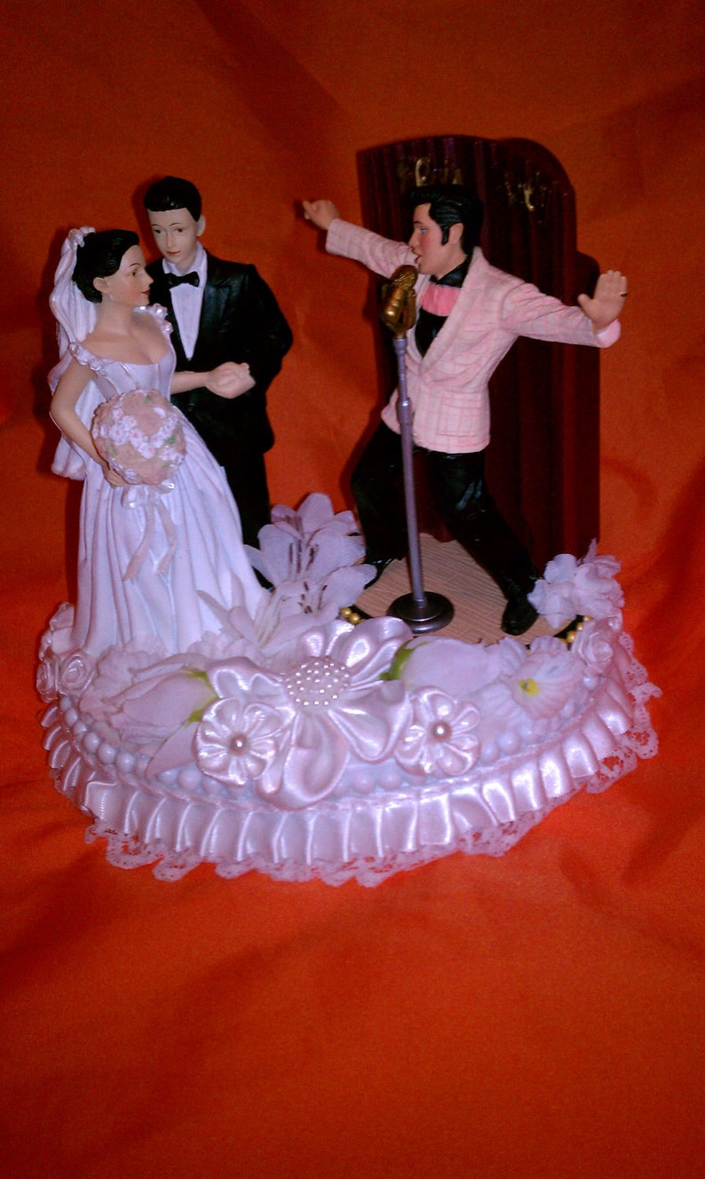 Elvis Wedding cake topper  IN Love and all Shook Up image 0