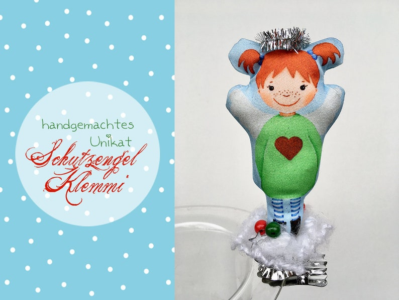 Protective angel Klemmi LOTTA  angel decoration  lucky charm image 0