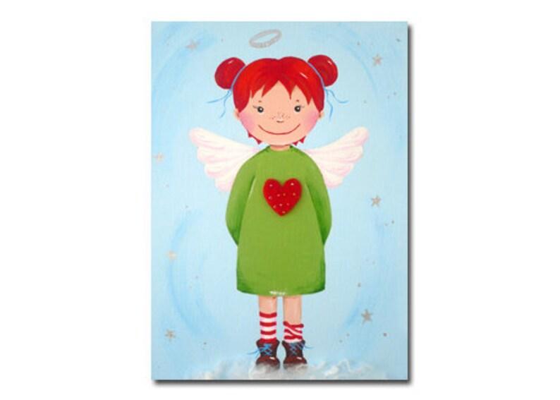 Postcard Angel Light Blue-Green image 0