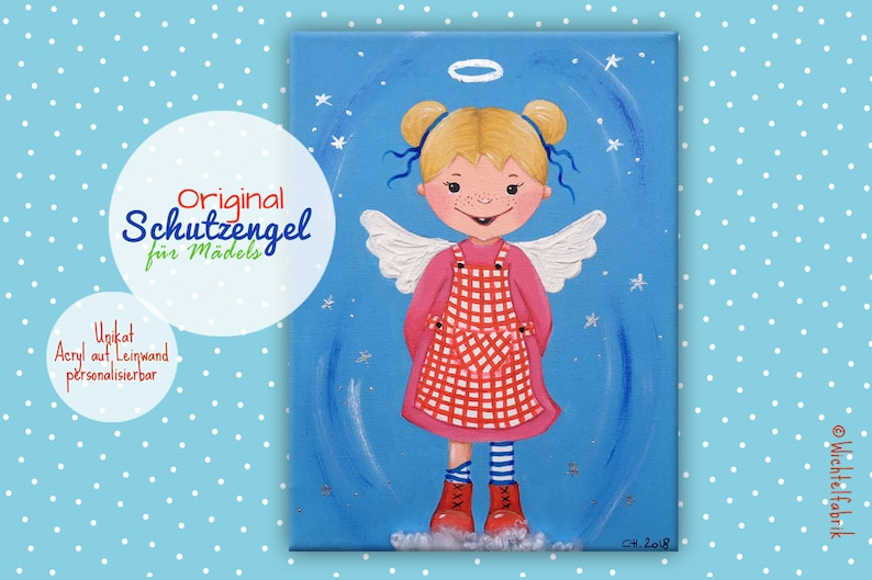 ORIGINAL PICTURE Guardian Angel  Baptism Gift  Gift for image 0