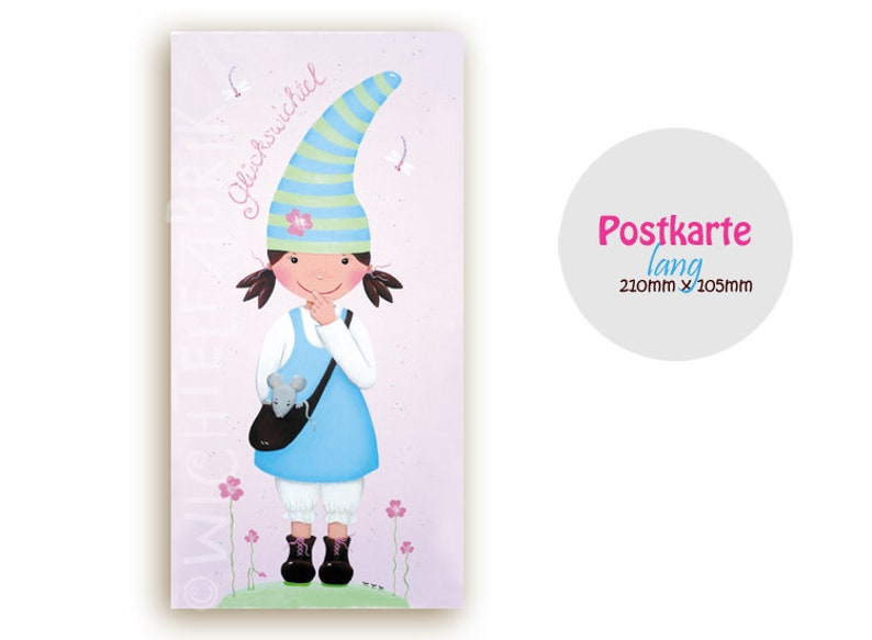 Postcard Lucky elf Pastel image 0