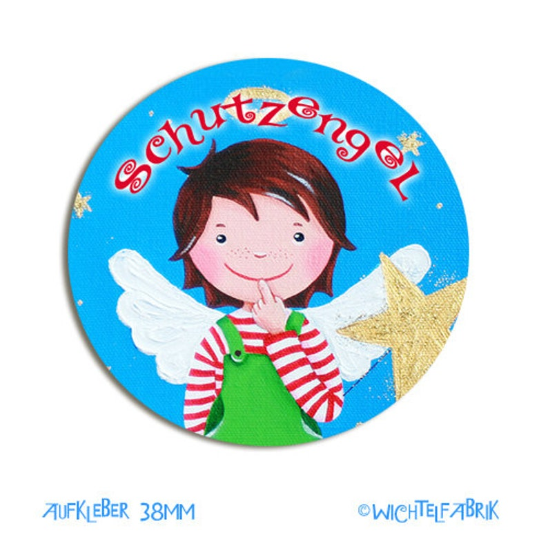 8 Sticker guardian Angel Boy 38 mm image 0