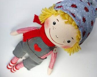 Doll KONRAD * Wichtel * Glückswichtel * Artist doll * handmade unique piece