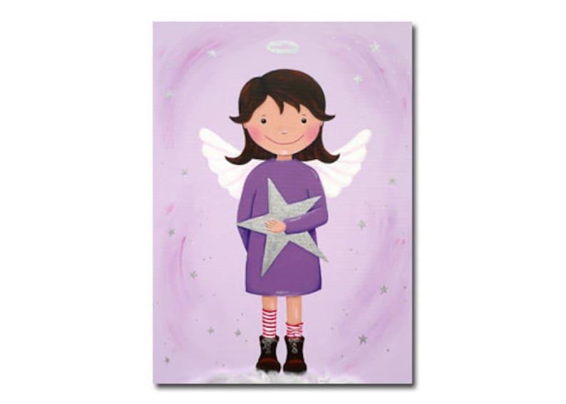 Postcard Angel Lilac-violet image 0