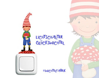 Light Switch-Wichtel Young Red-Blue