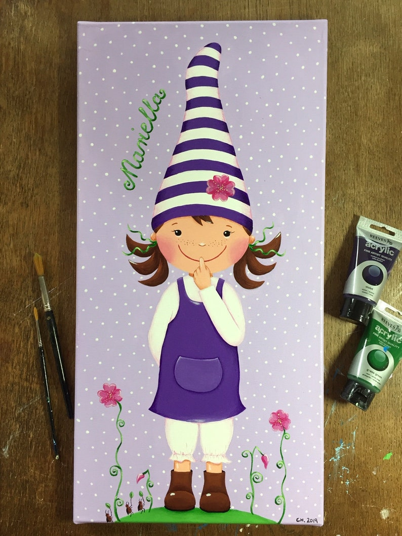 ORIGINAL PICTURE Lucky Imp for Girls  Canvas 30 x 60 cm image 0