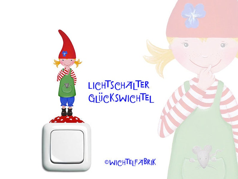 Light Switch-elf girl red-Blue image 0