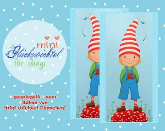 2 MINI Important Fabric * 2x Boy red-blue with teddy * lucky swift * Application * Fabric * Cotton