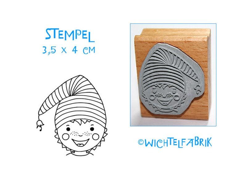 Stamp Importteljunge  Wood Stamp  for children  image 0
